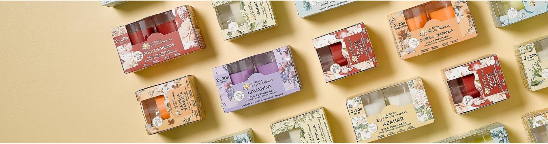 Velas aromáticas de La Casa de los Aromas para perfumar tus espacios